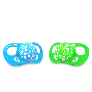 2x Pacifier Large NEON (6+m)
