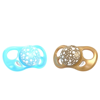 2x Pacifier Large (6+m) PEARL