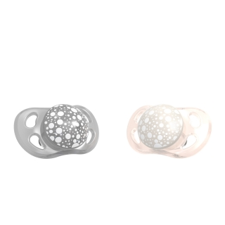 2x Pacifier Mini (0-6m) PEARL