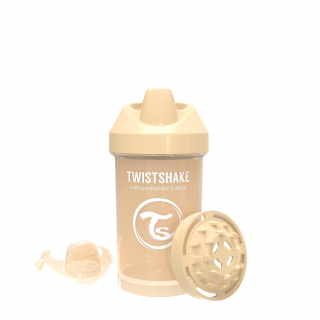 TASSE CRAWLER PASTELL BEIGE / PEACH 300 ML, 8+ MONATE